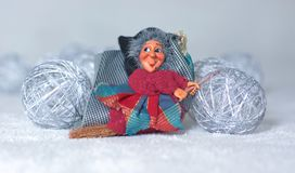 Epiphany comes the witch with a broom flying, and takes away all the Christmas holidays. Christmas is coming and the decorations are almost ready stock photos