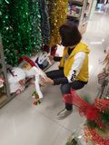 Santa Claus and Christmas gift decorations. Christmas is coming, the mall Santa Claus and Christmas gift decorations and so on. In shenzhen, China Royalty Free Stock Photo