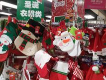 Santa Claus and Christmas gift decorations. Christmas is coming, the mall Santa Claus and Christmas gift decorations and so on. In shenzhen, China Royalty Free Stock Photos