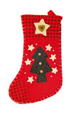 Christmas is coming - Red stocking for gifts Royalty Free Stock Photo