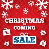 Christmas is coming sale background. Stock Photos