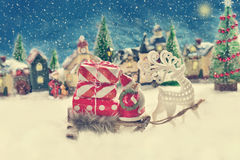 Christmas is coming in vintage style Royalty Free Stock Image