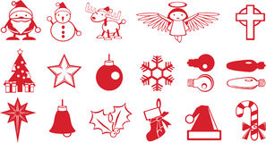 Christmas component icons Stock Photo