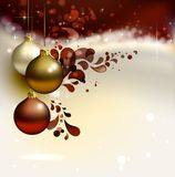 Christmas composition. Glimmered Christmas background with evening balls Stock Photo