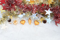 Christmas composition. On a background of ice royalty free stock photography