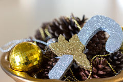 Christmas Composition. Background and some space for your wording Royalty Free Stock Photos