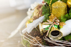 Christmas Composition. Background and some space for your wording Royalty Free Stock Photo