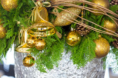 Christmas Composition. Background and some space for your wording Royalty Free Stock Photography