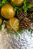 Christmas Composition. Background and some space for your wording Stock Images