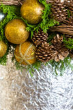Christmas Composition. Background and some space for your wording Stock Photography