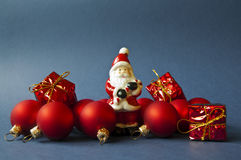 Christmas composition - blue Stock Photo