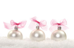Christmas composition with christmas balls stock images