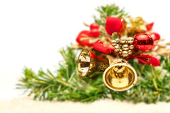 Christmas composition with copy space Royalty Free Stock Images