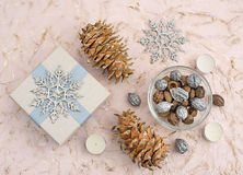 Christmas composition decoration royalty free stock photo