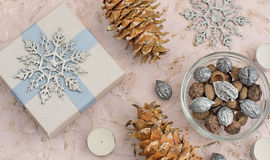 Christmas composition decoration stock photography