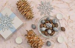 Christmas composition decoration stock photos