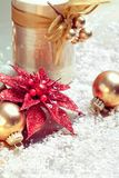 Christmas composition with decorations Stock Photo