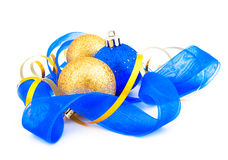Christmas composition from decorative balls Stock Photo