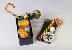 Christmas composition food photo Stock Images