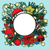 Christmas Colorful Frame Royalty Free Stock Images