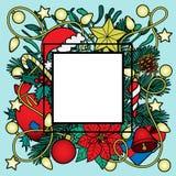 Christmas Colorful Frame Royalty Free Stock Photos