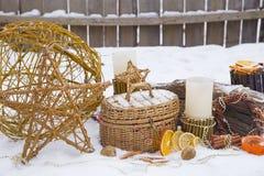 Christmas composition in the garden Stock Photography