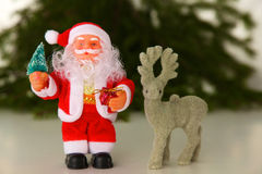 Christmas composition with gift box and decorations Royalty Free Stock Image