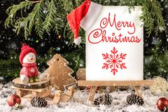 Christmas Composition with Gifts with free text space. Christmas New Year background stock photos
