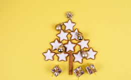 Christmas composition with gifts and christmas tree. stock images