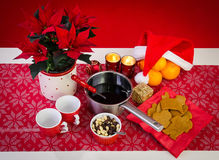 Christmas composition with glogg Stock Photo