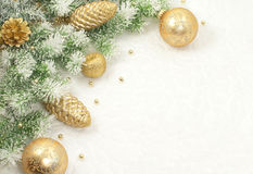 Christmas composition for greeting card. Stock Photography