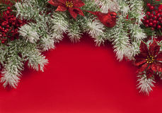 Christmas composition for greeting card. Stock Image