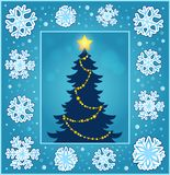 Christmas composition greeting card 2 vector illustration