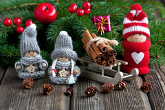 Christmas composition with holiday decoration Royalty Free Stock Photo