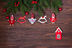 Christmas composition with holiday decoration Stock Photography