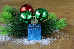 Christmas composition with holiday decorations Royalty Free Stock Photos