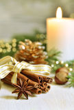 Christmas  composition on a light background. Stock Photo