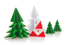 Christmas Composition Of Origami Stock Photography
