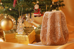 Christmas composition with Pandoro Stock Photography