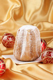 Christmas composition with Pandoro Stock Photos