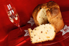 Christmas composition with panettone Stock Photo