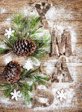 Christmas composition with pine Stock Image