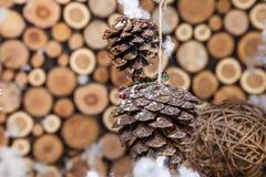 Christmas composition for postcard Stock Image