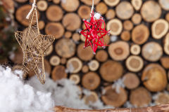 Christmas composition for postcard Stock Images