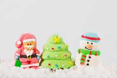 Christmas composition on the snow Royalty Free Stock Photo