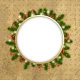 Christmas Composition With Stars And Berry Royalty Free Stock Photography