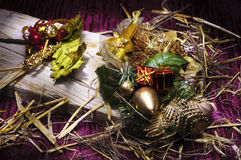 Christmas composition still life Royalty Free Stock Image
