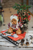 Christmas composition with toy bear Royalty Free Stock Images