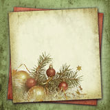 Christmas composition on vintage background Royalty Free Stock Photo