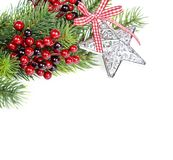 Christmas composition on a white background Royalty Free Stock Photography